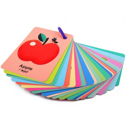 Flashcard with ring